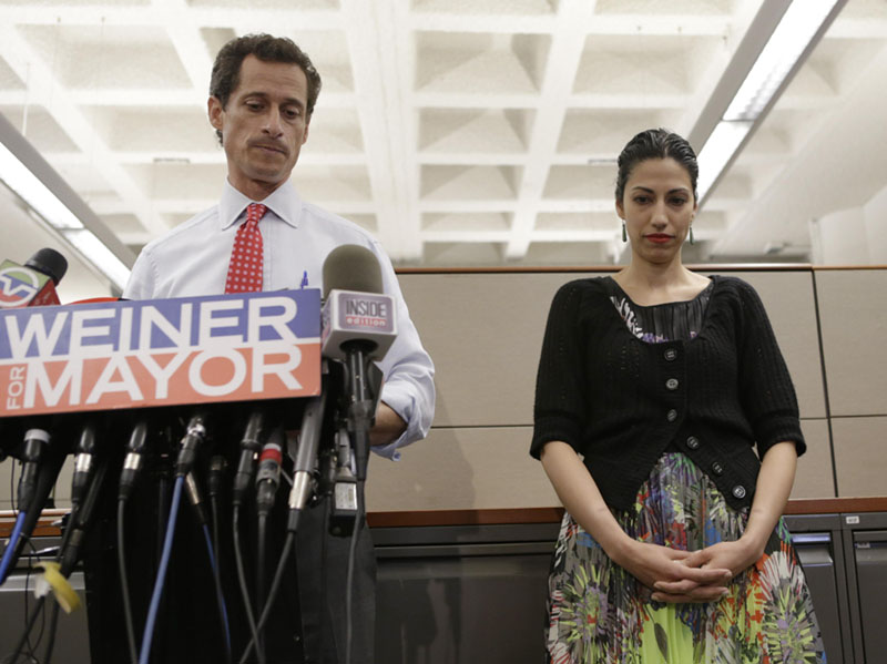 Anthony Weiner, Huma Abedin scandal